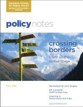 Policy Notes - Fall 2012