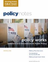 Policy Notes - Spring 2018