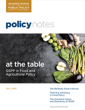 Policy Notes - At the Table